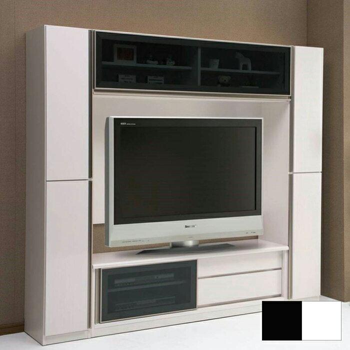 テレビボード テレビ台 選べる2色 ホワイト ブラック リビング家具 幅210cm 奥行き41cm 高さ190cm 高級感 シンプル ディスプレイ大容量収納 通販 送料無料