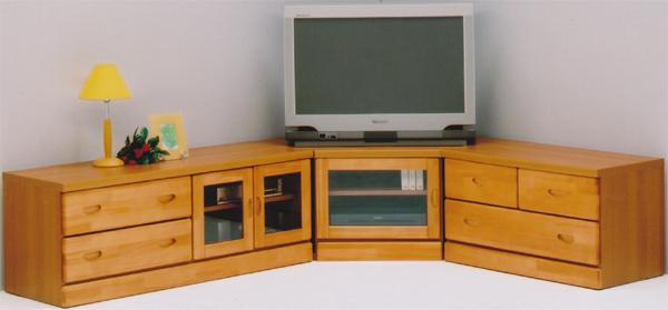 テレビ台 3点セット ナチュラル コーナー 木製 AV機器収納 ガラス扉 完成品 送料無料 通販