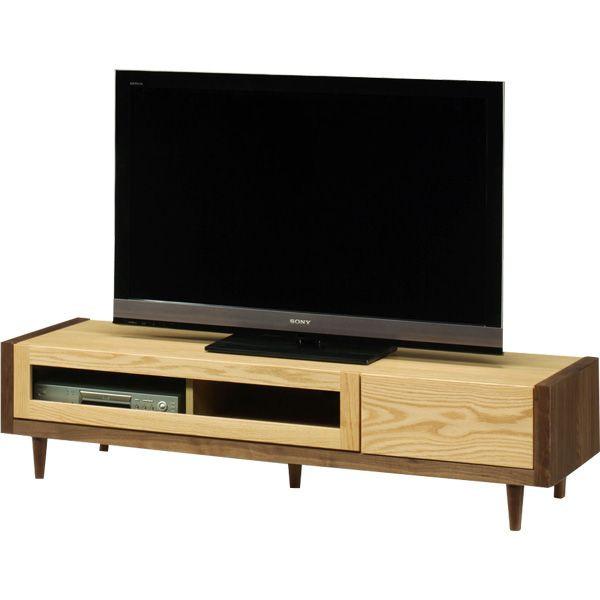 テレビ台 ローボード 幅153 ナチュラル ブラウン おしゃれ 収納家具 AV収納 脚付き 北欧 木製 完成品 送料無料 通販