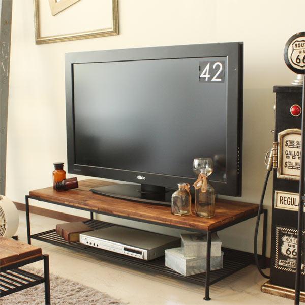 テレビボード テレビ台 ローボード TV台 幅115cm 木製 古木風 レトロ モダン パイン材 AV収納 シンプル ラック付き 送料無料 通販