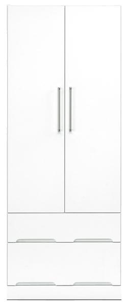 ワードローブ クローゼット ロッカー ハンガーラック 服吊 幅70cm 高さ180cm ハイタイプ 衣類収納 鏡面ホワイト シンプル 北欧 木製 日本製 完成品 送料無料 通販