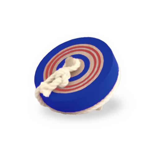 【送料無料(定形外発送)】<BR>コマ 木のおもちゃ<BR>カラーなげこま 6cm ブルー