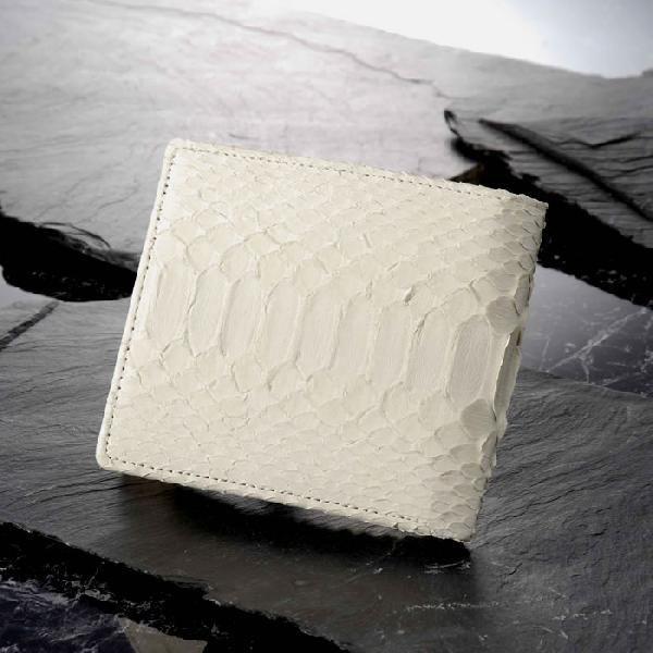 白蛇 二つ折り革財布 K9693