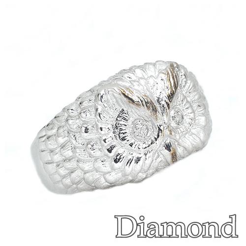 アニマルモチーフリング ダイヤモンド シルバー フクロウ リング SV572