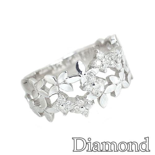 ダイヤモンドリング ダイヤモンド プラチナ リーフ リング SP567