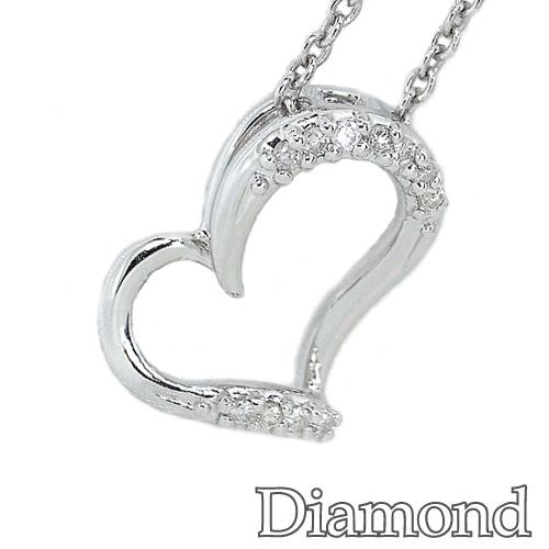 ダイヤモンドペンダント ダイヤモンド ホワイトゴールド ハート ペンダント TN181