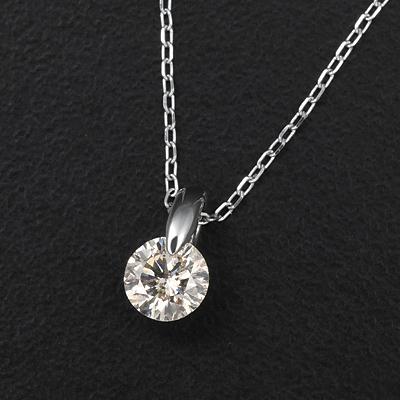 プラチナ0.5ctダイヤペンダント KG0271 (ダイヤモンド/一粒石/I1クラス /0.5カラット/プラチナ/鑑別書付き)