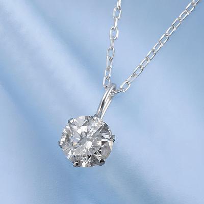 プラチナ0.45ctダイヤペンダント KG0265 (ダイヤモンド/一粒石/プラチナ/0.45カラット/鑑別書付き)
