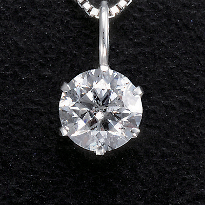 プラチナ0.3ctダイヤペンダント KG0270 (ダイヤモンド/一粒石/プラチナ/0.3カラット/鑑別書付き)