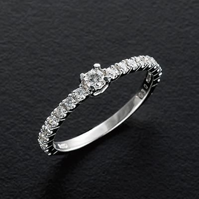 プラチナ900 計0.3ctダイヤリング KG0272 (ダイヤモンド/0.3カラット/プラチナリング/鑑別書付き)