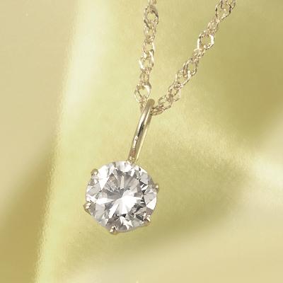18金 0.25ctブラウンダイヤペンダント KG0280 (ダイヤモンド/一粒石/I1クラス /K18/鑑別書付き)