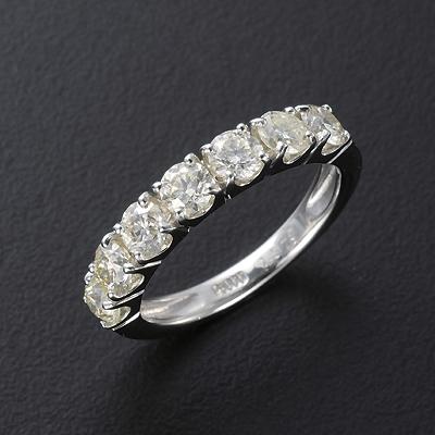 プラチナ900 計1.5ctイエローダイヤリング KG0278(ダイヤモンド/プラチナ/SIクラス/指輪/1.5ct/鑑別書付き)