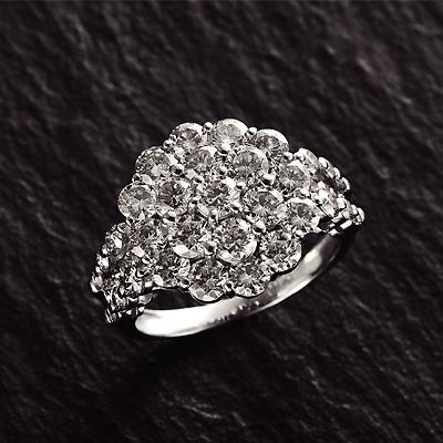 プラチナ900 計3.0ct ダイヤリング KG0314 ( ダイヤモンド / 3.0カラット / プラチナ / リング / 鑑別書付き )