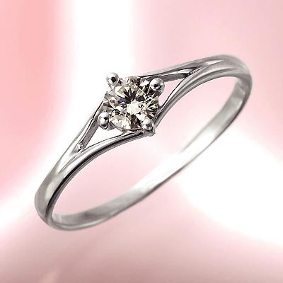 プラチナ900 0.2ct イエローダイヤリング KG0319 ( ダイヤモンド / SIクラス / プラチナ / リング / 鑑定書付き )