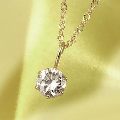 18金 0.3ct ブラウンダイヤペンダント KG0398 ( ダイヤモンド / I1クラス / ブラウン/ 18金 / 0.3カラット / 鑑別書付き )