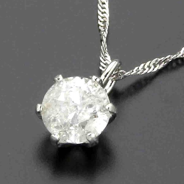 0.3ct プラチナダイヤモンドペンダント  ☆ 一粒石 Iクラス K10728