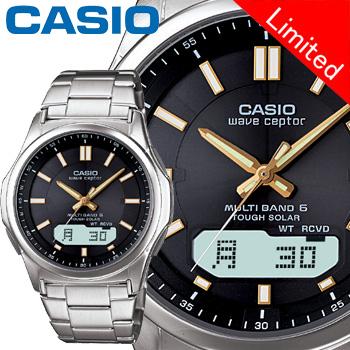 カシオ ウェーブセプター M630D メンズ ブラック (通販限定モデル) ステンレスバンド マルチバンド6 ソーラー電波時計 CASIO Wave Ceptor