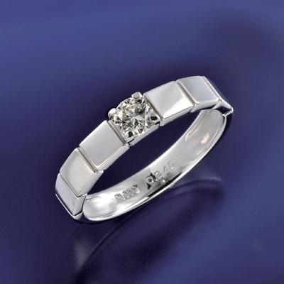 プラチナ900 ライトイエロー ダイヤデザインリング 0.2ct KG0504 ( ダイヤモンド / SIクラス / リング / プラチナ / 0.2カラット / 鑑定書付き )