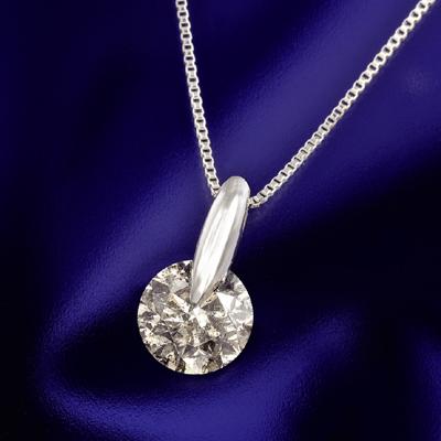 プラチナ ダイヤペンダント 1.3ct KG0498 ( ダイヤモンド / 一粒石 / I1クラス / ペンダント / プラチナ / 1.3カラット / ライトブラウン / 鑑定書付き )