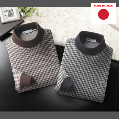 MIJ/エムアイジェイ 日本製千鳥格子ハイネックシャツ2色組 2014年-2015年モデル