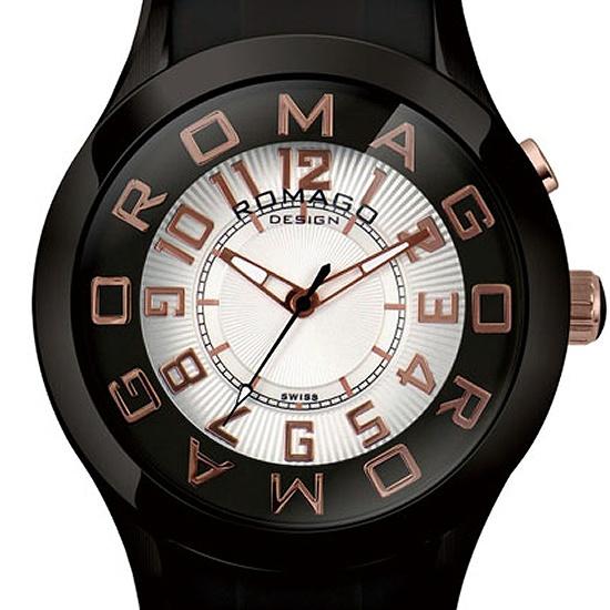 【ロマゴデザイン】腕時計 RM015-0162PL-BKRGユニセックス メンズ レディース ROMAGODESIGN 正規品 新作 人気 流行 ブランド