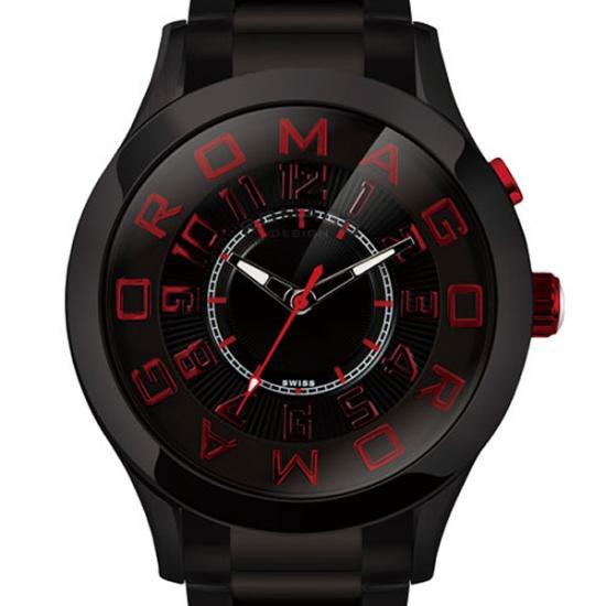 【ロマゴデザイン】腕時計 RM015-0162SS-BKRDユニセックス メンズ レディース ROMAGODESIGN 正規品 新作 人気 流行 ブランド