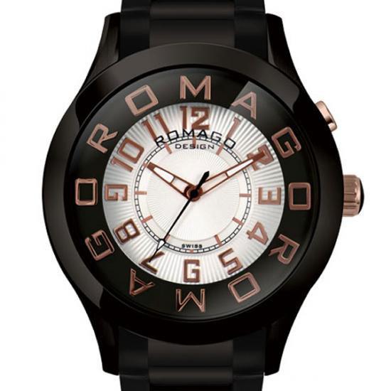 【ロマゴデザイン】腕時計 RM015-0162SS-BKRGユニセックス メンズ レディース ROMAGODESIGN 正規品 新作 人気 流行 ブランド