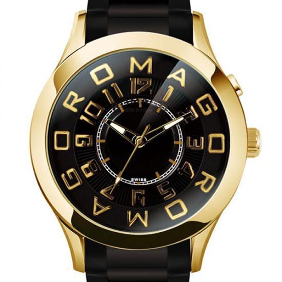 【ロマゴデザイン】腕時計 RM015-0162SS-GDBKユニセックス メンズ レディース ROMAGODESIGN 正規品 新作 人気 流行 ブランド