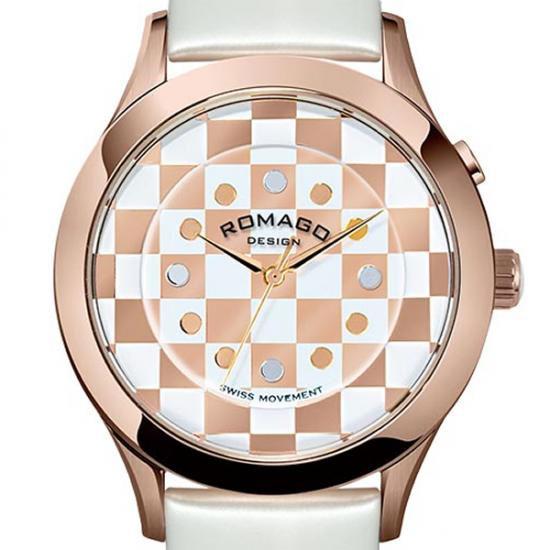 【ロマゴデザイン】腕時計 RM052-0314ST-RGWHユニセックス メンズ レディース ROMAGODESIGN 正規品 新作 人気 流行 ブランド