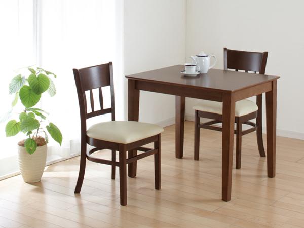 ダイニングテーブル マーチ W85×D65 2人用 ニューブラウン (テーブル単品) クロシオ 4126