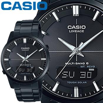 カシオ ウェーブセプター リニエージ M170DB メンズ ブラック ステンレスバンド マルチバンド6 ソーラー電波時計 無反射コーティングサファイアガラス CASIO Wave Ceptor LINEAGE