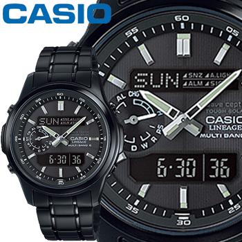 カシオ ウェーブセプター リニエージ M300DB メンズ ブラック ステンレスバンド マルチバンド6 タフソーラー 高機能ソーラー電波時計 CASIO Wave Ceptor LINEAGE
