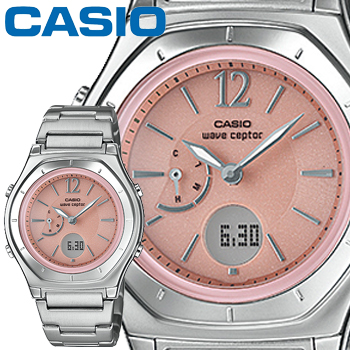 カシオ ウェーブセプター M160D レディース ピンク ステンレスバンド プッシュ&リリースバンド マルチバンド6 ソーラー電波時計 CASIO Wave Ceptor