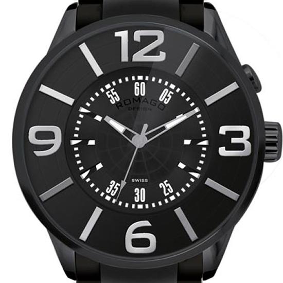 【ロマゴデザイン】腕時計 RM007-0053SS-BKユニセックス メンズ レディース ROMAGODESIGN 正規品 新作 人気 流行 ブランド