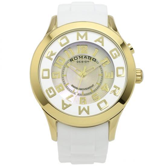 【ロマゴデザイン】腕時計 RM015-0162PL-GDWHユニセックス メンズ レディース ROMAGODESIGN 正規品 新作 人気 流行 ブランド