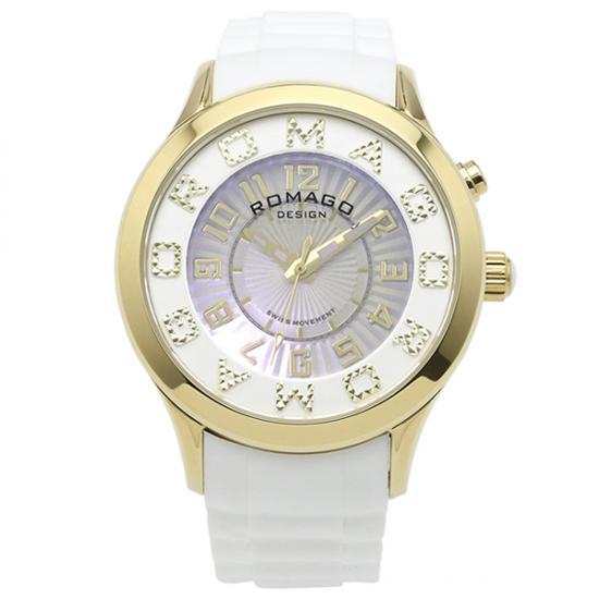 【ロマゴデザイン】腕時計 RM067-0162PL-GDWHレディース ROMAGODESIGN 正規品 新作 人気 流行 ブランド