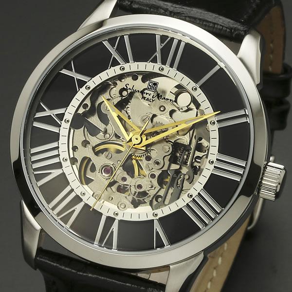 【サルバトーレ・マーラ】手巻き機械式腕時計 SM16101-SSBKメンズ Salvatore Marra サルバトーレマーラ