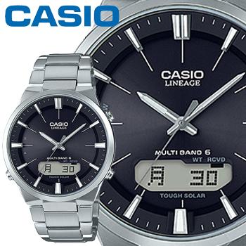 カシオ ウェーブセプター リニエージ M510D メンズ ブラック ステンレスバンド マルチバンド6 ソーラー電波時計 タフソーラー 内面無反射コーティングサファイアガラス CASIO Wave Ceptor LINEAGE
