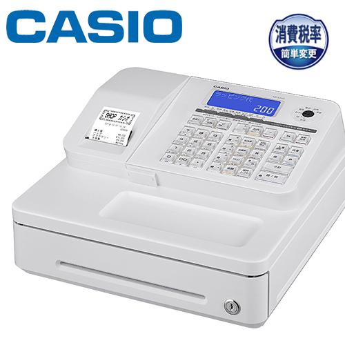 CASIO 電子レジスター SR-S200-WE ホワイト 1シート (ジャーナル/電子店名スタンプ) サーマル 10部門 Bluetoothレジスター