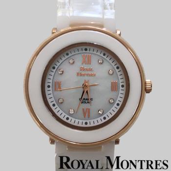 ロイヤルモントレス セラミック ソーラー ウオッチ レディース ホワイト/ピンクゴールド ROYAL MONTRES