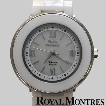 ロイヤルモントレス セラミック ソーラー ウオッチ メンズ ホワイト/シルバー ROYAL MONTRES