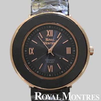 ロイヤルモントレス セラミック ソーラー ウオッチ メンズ ブラック/ピンクゴールド ROYAL MONTRES