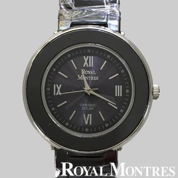 ロイヤルモントレス セラミック ソーラー ウオッチ メンズ ブラック/シルバー ROYAL MONTRES