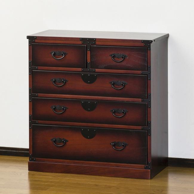 民芸調 引出箪笥 クロシオ 64734 和風モダン 工芸品 和風たんす