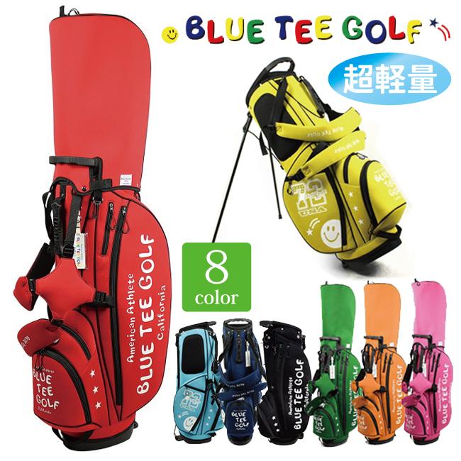 ブルーティーゴルフ ストレッチスタンドキャディバッグ 9型 CB-003BTG-CB003 9型 46インチ対応 BTG ネオプレン 可愛い おしゃれ にこちゃん スマイリー ゴルフ用品