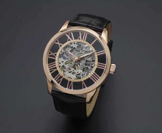 【サルバトーレ・マーラ】手巻き機械式腕時計 SM16101-PGBKメンズ Salvatore Marra サルバトーレマーラ