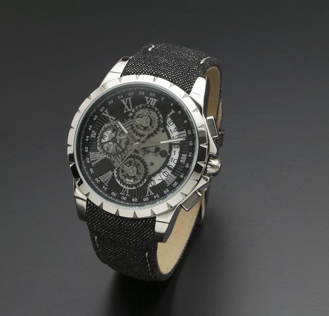 【サルバトーレ・マーラ】クオーツ時計・クロノグラフSM13119D-SSBK/BK メンズ Salvatore Marra サルバトーレマーラ