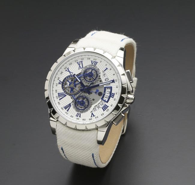 【サルバトーレ・マーラ】クオーツ時計・クロノグラフSM13119D-SSWHBL/WHメンズ Salvatore Marra サルバトーレマーラ
