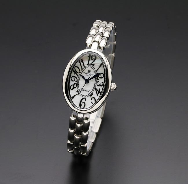 【サルバトーレ・マーラ】10年電池クォーツ時計・1Pダイヤモンド SM17152-SSWHメンズ Salvatore Marra サルバトーレマーラ
