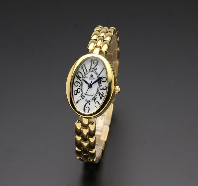 【サルバトーレ・マーラ】10年電池クォーツ時計・1Pダイヤモンド SM17152-GDWHメンズ Salvatore Marra サルバトーレマーラ